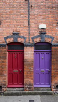 two double doors Dublin, Ireland Entrance Doors, Doorway, Garage Doors, Front Doors, Cool Doors, Unique Doors, Knobs And Knockers, Door Knobs, Portal