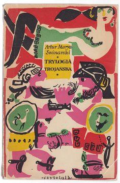 'Trylogia trojańska', Warszawa 1958, cover by Jan Młodożeniec