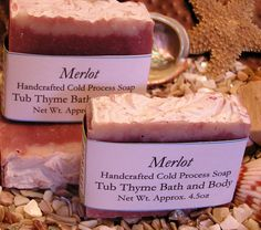 This soap is divine!!!  Handcrafted Artisan Merlot Cold Process by TubThymeBathandBody, $5.00