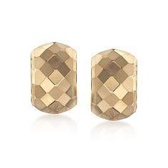 Ross-Simons - 14kt Yellow Gold Half-Hoop Earrings - #787854