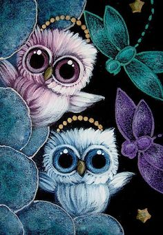 two baby owls <3
