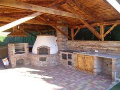 Bbq House, Four A Pizza, Backyard Fireplace, Bushcraft, Cooker, Villa, House Styles, Places, Kitchen