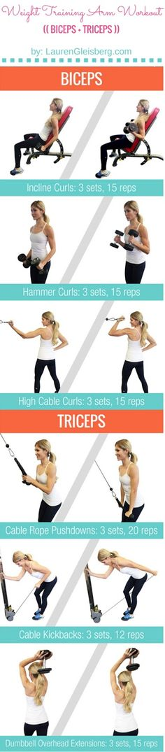 Weight Training Arm Workout Biceps Triceps Part of the FREE ConfidenceKini Workout Challenge Biceps And Triceps, Back And Biceps, Biceps Workout, Workout Circuit, Boxing Workout, Sport Fitness, Health Fitness, Lauren Gleisberg, Gym Routine