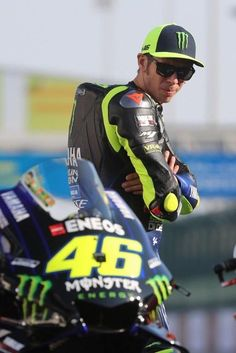 Yamaha MotoGP's Valentino Rossi of Italy looks at his bike in Doha on March 2019 at Lusail Circuit ahead of the season's start at Qatar MotoGP grand prix on March Get premium, high resolution news photos at Getty Images Valentino Rossi Logo, Motogp Valentino Rossi, Yamaha R6, Yamaha Motorcycles, Beast Mode, Vr46, 1957 Chevrolet, Isle Of Man, Super Bikes