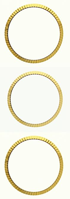 Bezels and Inserts 57714: Fluted Bezel For 34Mm Rolex Air King 1500, 1501, 1503, 1505, 5500 Gold Plated -> BUY IT NOW ONLY: $79.9 on eBay!