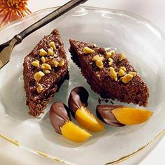 Greek chocolate nut cake
