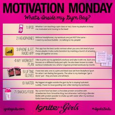 What's Inside my Gym Bag (my motivational tools for success!) | IgniteGirls® Fitness