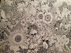 """Botanical Wave × Bat"" Drawing on Behance"