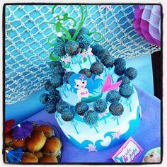 little mermaid cake pops tower