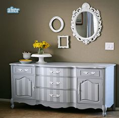 Another paint idea for refresh an old piece of furniture