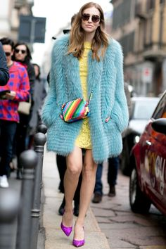 How Street-Style Stars Wear Fur Coats | StyleCaster