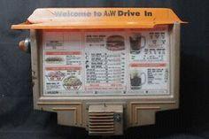1970's A&W Drive-In menu....coney fries were the best!