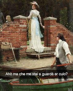 The Glance that Enchants by Edmund Blair Leighton (ARC) Funny Times, Art Memes, Italian Art, Funny Art, Just For Laughs, Comic Art, Romantic, Smile, Artwork