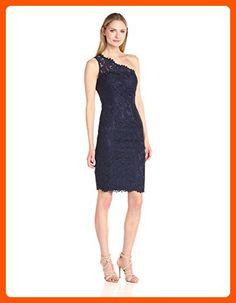 Eliza J Women's One Shoulder Lace Sheath, Navy, 6 - All about women (*Amazon Partner-Link)