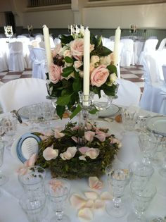 1000 images about deco table mariage on pinterest for Chandelier centre de table