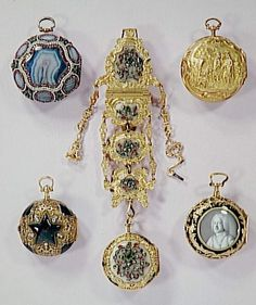 Louvre OA8606, a watch and chatelaine, London, 1768-1770