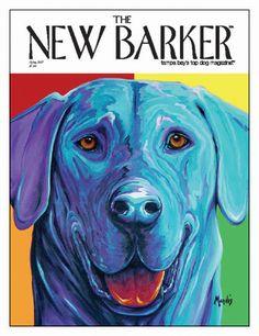 Jake by Michelle Mardis #dogart #magazine #magazinecover #cover