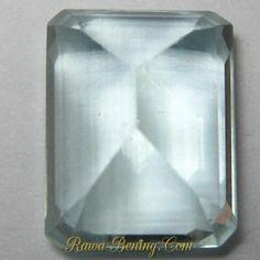 Jenis Batu Permata Rectangular Light Blue Aquamarine 3.35 carat