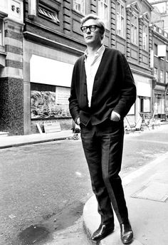 Michael Caine on a street in London, c. 1960s