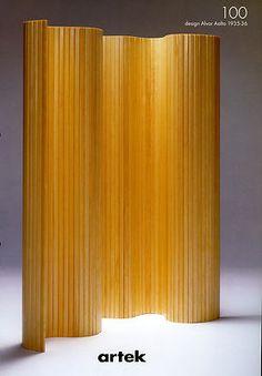 Screen by Alvar Aalto: predates the Eames screen for Herman Miller!