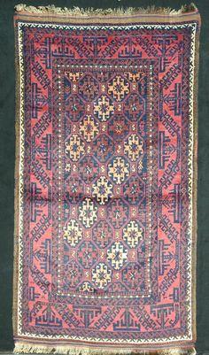 """ANTIKER BALOUCH 193 x 110 - ANTIQUE BALOUCH 6' 3"""" x 3' 6"""" - Ca. 1940 in Antiquitäten & Kunst, Teppiche & Flachgewebe, Turkmenische Teppiche   eBay!"""