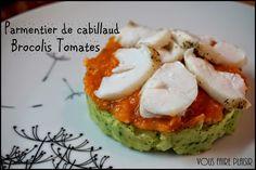 Parmentier de Cabillaud, Brocolis Tomates