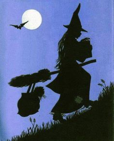 witch.quenalbertini: Witch silhouette