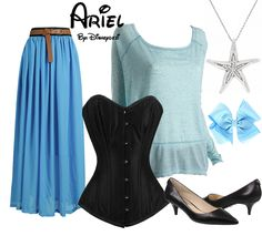 Ariel's Blue Dancing Dress, inspired by all the Disneybound I see <3