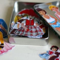 Mini Paper Doll Kit. Wouldn't have found this had I not looked at Tip Junkie's new look on Facebook!