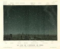 One Kings Lane - Heavens Above! - Paris Night Sky at Fall Equinox, 1877