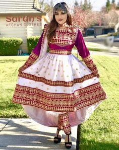 Traditional three-piece Dress Beautiful Pakistani Dresses, Indian Dresses, Latest Suit Design, Afghani Clothes, Balochi Dress, Pakistani Bridal Makeup, Afghan Girl, Afghan Dresses, Embroidery Suits Design