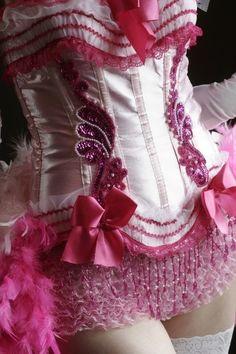 PINK LADY Burlesque Circus Corset