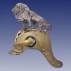 Kingdom of Saxony: Garde-Reiter-Regiment Parade Helmet, side view.