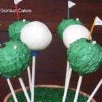 Cake Pops - Golf Balls and Golf Greens