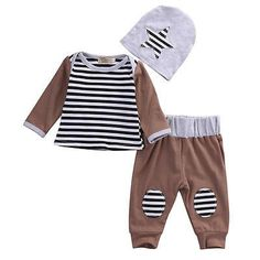 Brown And Stripes Set. #petitelapetite #top #bottom #pants #set #stripes #striped #boys #hipster #babyclothes #onesie #onesies #onesieset #bodysuit #fall #spring #babyclothes #bodysuitset #romperset #baby #babies #toddler #toddlers #clothing #cute #toddlerwear #babywear #springclothes #fallclothes #clothes #cotton #babyclothesforsale #cutebabyclothes #coolbabyclothes #uniquebabyclothes #trendybabyclothes  #babyclothessale #babyclothesideas #babyclothesus #freeshipping