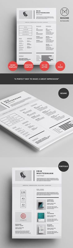 Simple Resume Set Simple resume, Portfolio covers and Cv design - artist resume templates