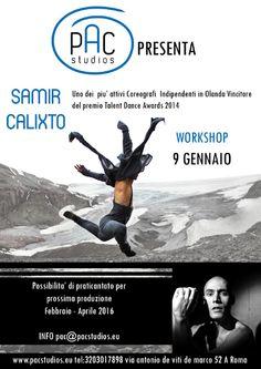 da 09/01/2016 a 09/01/2016 Workshop con Samir Calixto LUOGO: Performing art centervia antonio de viti de marco 52a REGIONE: Lazio PROVINCIA: Roma CITTA': Roma http://www.weekendinpalcoscenico.it/portale-danza/doc.asp?pr1_cod=5107#.VnrrohXhCUk