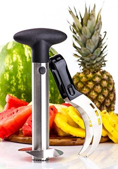 Watermelon Ninja Melon Pie  Cake Slicer Cutter Corer Tongs  Server Knife 2 in 1 Multipurpose Set with Pineapple Slicer  Kids Friendly  Premium 430 Stainless Steel  Comfortable  Non Slip Handle -- Want additional info? Click on the image.