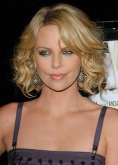 charlize-theron-hairstyle-wavy-bob | Best Hairstyles Design - most popular hairstyles
