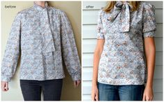 refashioning thrift store shirt