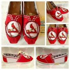 toms shoes sports | ... sports shoes, custom red and white Toms Swarovski Rhinestones shoes