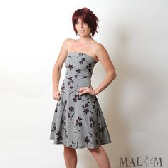 Cute Dress From Etsy http://www.etsy.com/listing/60677798/floral-print-dress-in-floral-grey-red