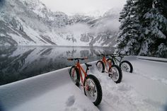 When the waters frozen we hit the bikes too :-)