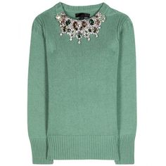 Burberry Prorsum Embellished Cashmere Sweater found on Polyvore <3 Alex Approved