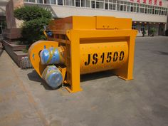 Hot sale automatic JS series electric forced concrete mixer is a miniature double-horizontal-shaft forced type concrete mixer