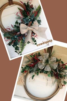 cute western christmas wreaths
