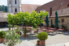 Rotes Schloss Restaurant, Wedding Locations, Places To See, Sidewalk, Plants, Beer Garden, Indoor Courtyard, Holiday Destinations, Red