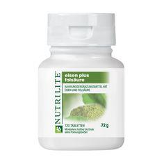 Bestellnummer: 100295 NUTRILITE™ Eisen Plus Folsäure. NUTRILITE Eisen Plus Folsäure liefert Eisen aus zwei Eisenquellen zusammen mit Folsäure. Diese Nährstoffe werden bei einer unausgewogener Ernährung nicht ausreichend aufgenommen.  Dieses Produkt deckt den erhöhten Bedarf für Frauen, die in der Schwangerschaft und im gebärfähigen Alter vermehrt Folsäure und Eisen benötigen. Dieses Produkt enthält auch erstklassiges NUTRILITE Spinatkonzentrat.