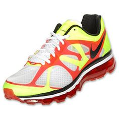 The Nike Air Max 2012 Men's Running Shoes should be a staple pair in your closet. These lightweight running shoes sport a two-layer Hyperfuse upper that sits on top of a full-length Cushlon midsole and 360 degree Max Air unit. You're sure to feel the superior support and cushioning in these running shoes.