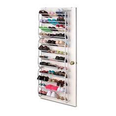 36 Pair Over Door Hanging Shoe Rack 12 Tier Shelf Organiser Storage Stand Holder for sale online Storage Hooks, Closet Storage, Closet Organization, Storage Ideas, Shoe Storage Behind Door, Bedroom Storage, Diy Storage, Storage Solutions, Hanging Shoe Rack